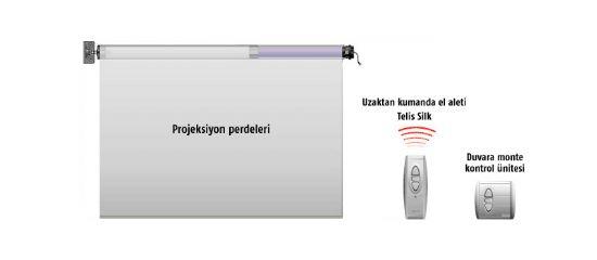 Somfy Motorlu Projeksiyon Perdeleri